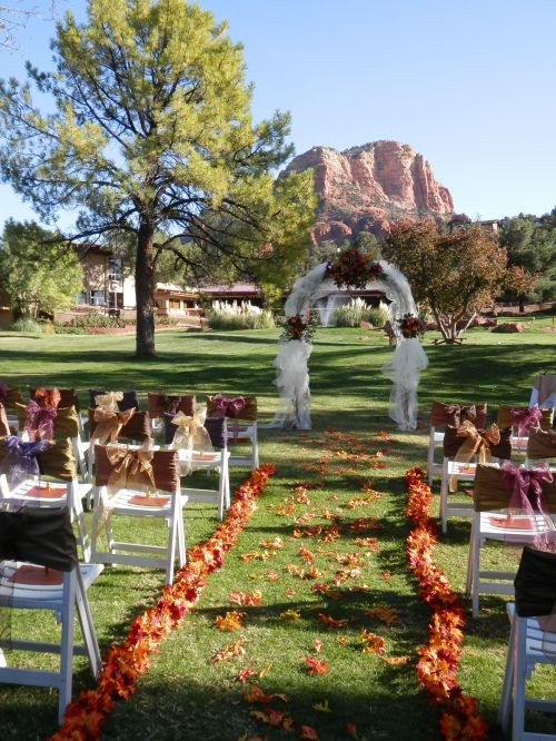 Ceremony with Red Rock View