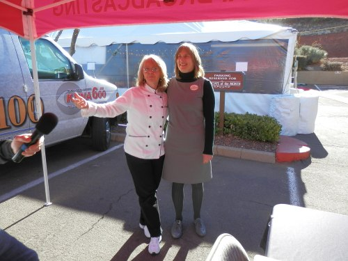 Donna and Jill Visiting the Live Remote with Yavapai Broadcasting