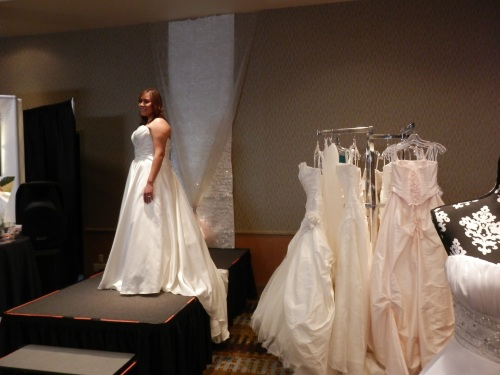 Beautiful Wedding Gowns from the Wedding Belle on Display