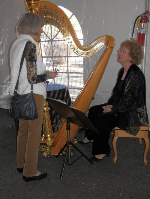 Harpist Adrienne